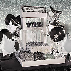 Black & Silver Wedding Candy Buffet Idea