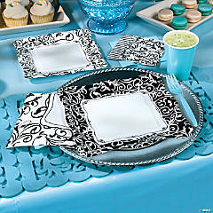 Black and White Baby Shower Party Supplies
