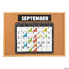 Black & White Bulletin Board Calendar Kit
