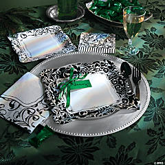 Black & White Christmas Party Supplies