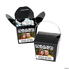 Black & White Custom Photo Take Out Boxes