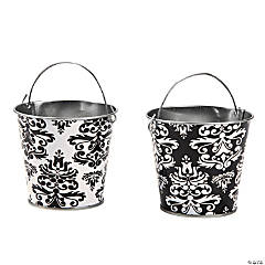 Black & White Favor Pails