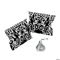 Black & White Favor Pillow Boxes
