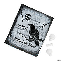 Black & White Halloween Candy Fun Packs