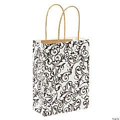 Black & White Kraft Paper Bags