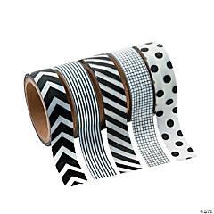 Black & White Patterned Washi Tape Set