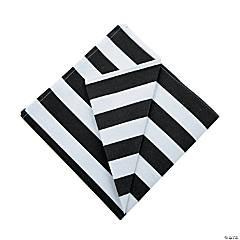 Black & White Striped Cloth Napkins