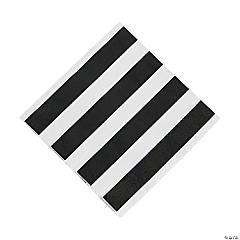 Black & White Striped Luncheon Napkins