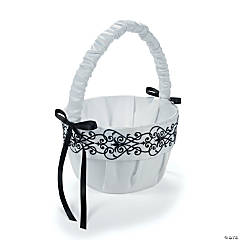 Black & White Wedding Basket