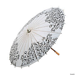 Black & White Wedding Parasol