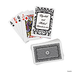 Black & White Wedding Personalized Playing Cards