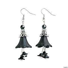 Black Bell Earrings Craft Kit
