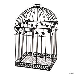 Black Birdcage Card Holder