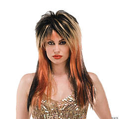Black, Blonde & Copper Punk Diva Wig