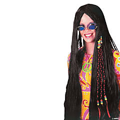 Black Braided Hippie Wig