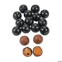 Black Caramel Balls Chocolate Candy