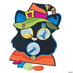 Black Cat Halloween Bean Bag Toss Game