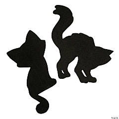 Black Cat Shapes for Halloween