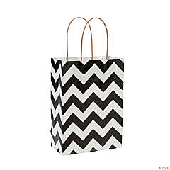 Black Chevron Kraft Bags