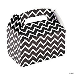 Black Chevron Treat Boxes