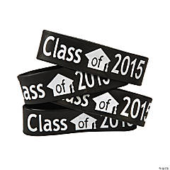 Black Class of 2015 Big Band Bracelets