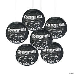 Black Congrats Grad Hanging Paper Lanterns