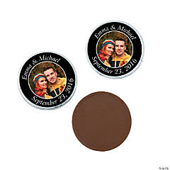 Black Custom Photo Chocolate Coins