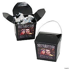 Black Custom Photo Take Out Boxes