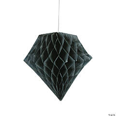Black Diamond Tissue Paper Hanging Decorations