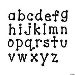 Black Dot-to-Dot Lowercase Letters