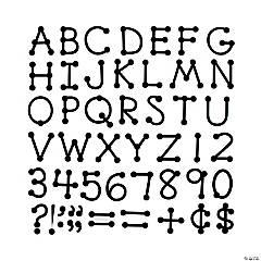 Black Dot-to-Dot Uppercase Letters
