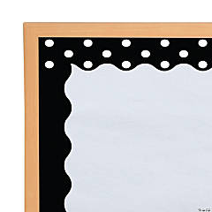 Black Double-Sided Scalloped Bulletin Board Border