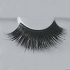Black Eyelashes with Adhesive 199