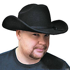 Black Felt Cowboy Hat Costume