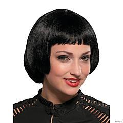 Black Flapper Sassy Wig