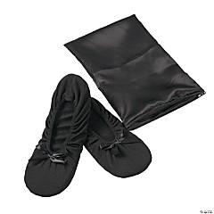 Black Foldable Ballet Flats - Med/Large
