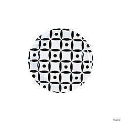 Black Geometric Dessert Paper Plates