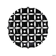 Black Geometric Dinner Paper Plates