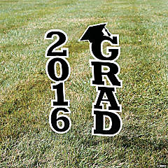 2016 Black Grad Yard Sign