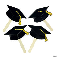 Black Graduation Cap Fans