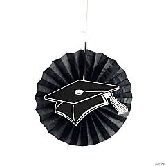 Black Graduation Hanging Fans with Icons