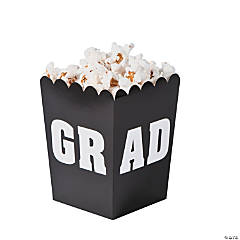 Black Graduation Popcorn Boxes