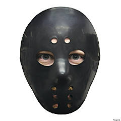 Black Halloween Hockey Mask