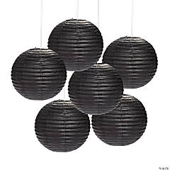 Black Hanging Paper Lanterns