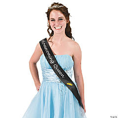 "Black ""Homecoming Queen"" Sash"