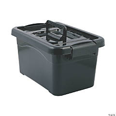 Black Large Locking Storage Bins with Lids