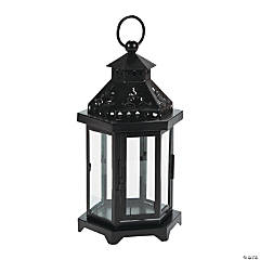 Black Metal Hexagon Lantern