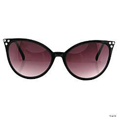 Black Modern Cat Eye Smoked Glasses