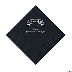 Black Oktoberfest Personalized Napkins with Silver Foil – Luncheon