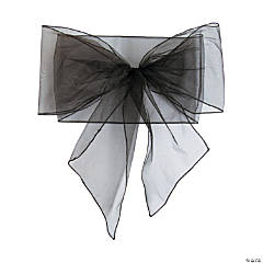 Black Organza Chair Bows